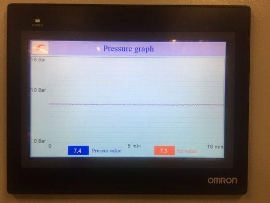 Màn hình điều khiển và giám sát hệ thống khí nén