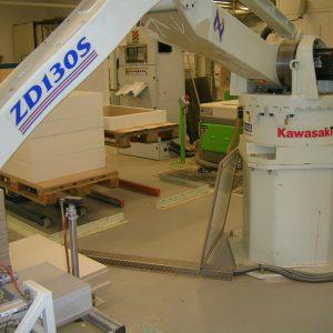 Ứng dụng robot Kawasaki trong sản xuất gỗ công nghiệp