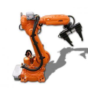 Robot ABB kết hợp với máy cnc trong gia công cơ khí